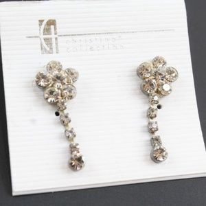 Jewelry - Christina Collection Crystal Floweret Earrings